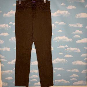 NYDJ- Brown Straight Leg Pants size 12